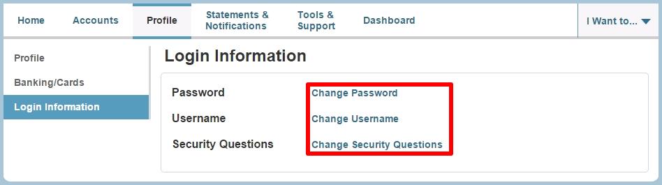 Change login