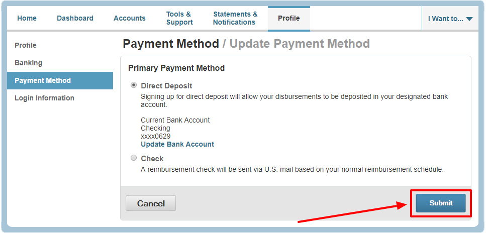 Update Payment Method