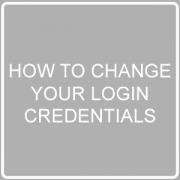 change your login credentials post image