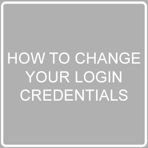 change your login credentials post image