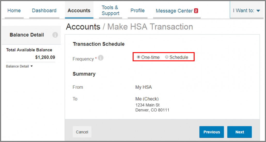 how to make a HSA transaction 4