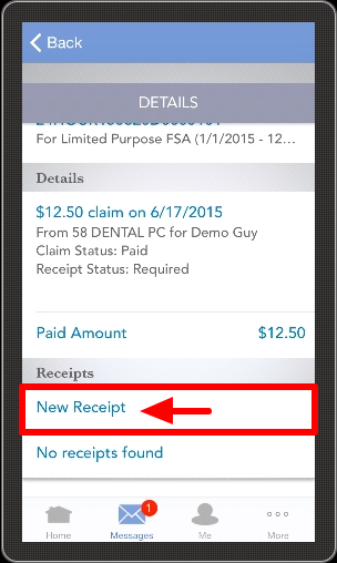app6 select new receipt