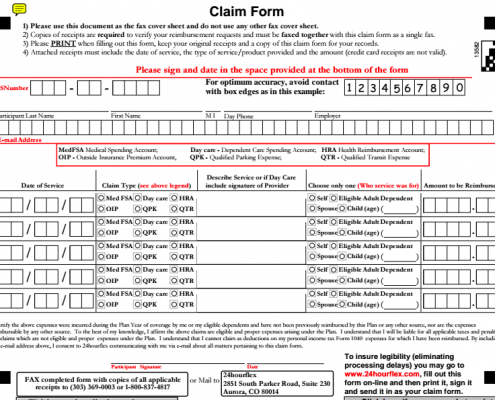 Old 24HourFlex Claim Form